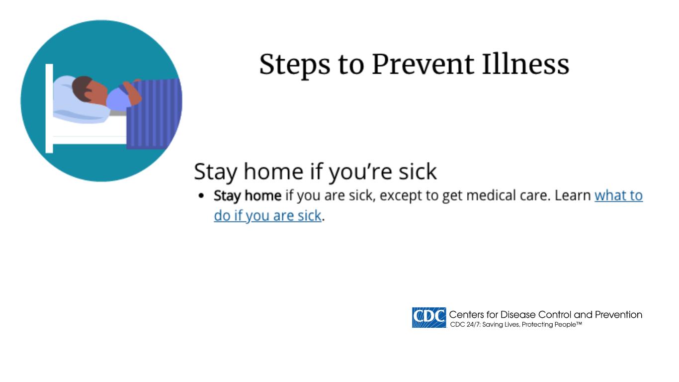 CDC  - 3 Step To Prevent Illness - Coronavirus (COVID-19) Slides - Healthcare TV