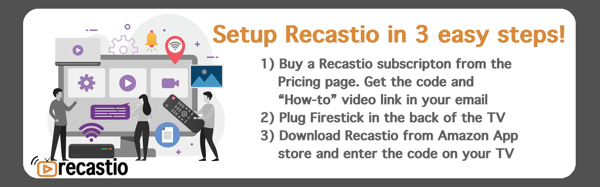 easily setup slideshow on TV