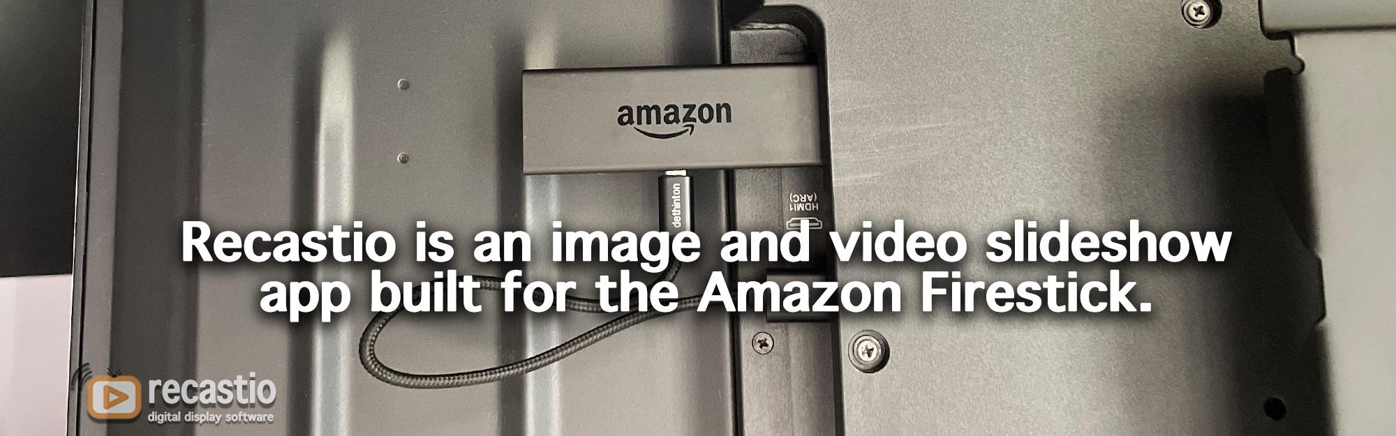 image and video slideshow using flatescreens