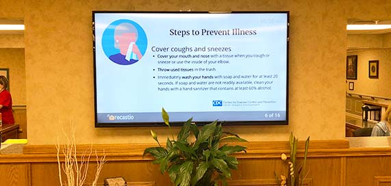 Digital Displays in Assisted Living Facilities